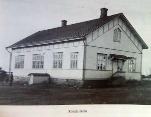 Rosala första skolhus